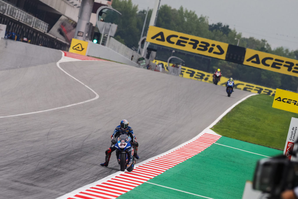 Toprak Razgatlioglu (54) in action at Catalunya. Photo courtesy Dorna.