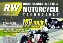 The cover of the September 2020 issue of Roadracing World & Motorcycle Technology magazine.