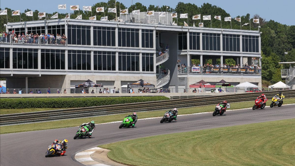 Cameron Petersen (45) leads Stock 1000 Race Two. Photo by Brian J. Nelson, courtesy MotoAmerica.