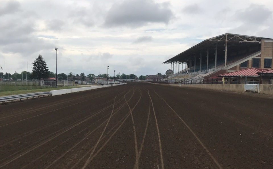 The one-mile track at the Illinois State Fairgrounds, in Springfield, Illinois.