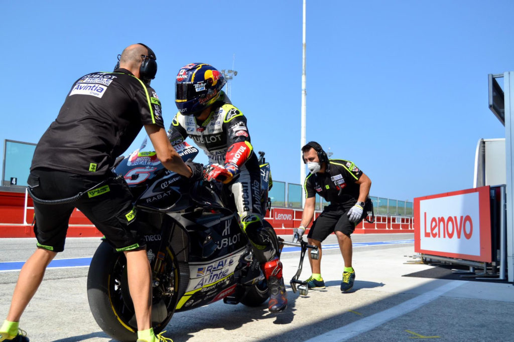 Johann Zarco (5). Photo courtesy Avintia Esponsorama Racing.