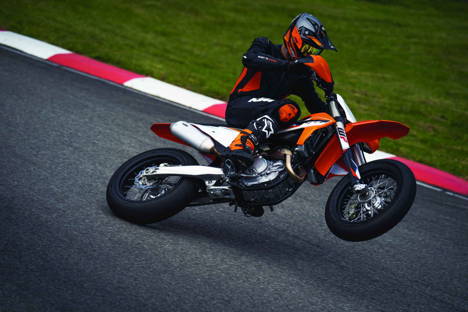 A 2021-model KTM 450 SMR in action. Photo courtesy KTM.