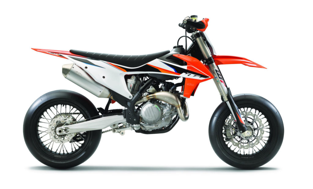 A 2021-model KTM 450 SMR. Photo courtesy KTM.