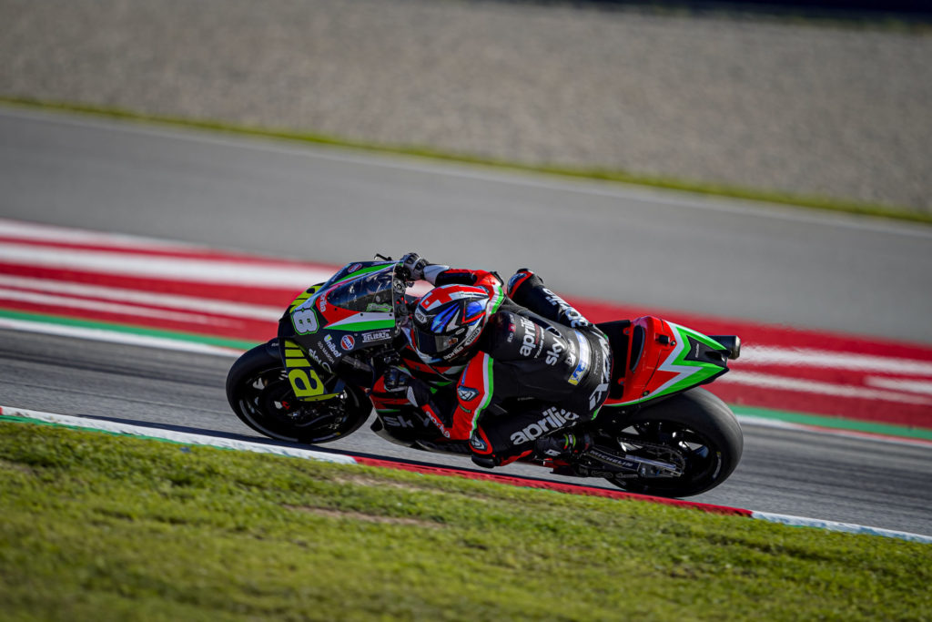 Bradley Smith (38). Photo courtesy Aprilia.