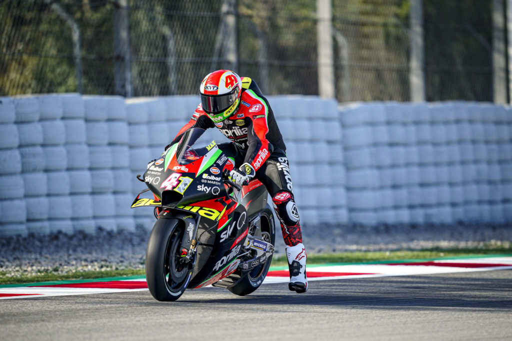 Aleix Espargaro (41). Photo courtesy Aprilia.