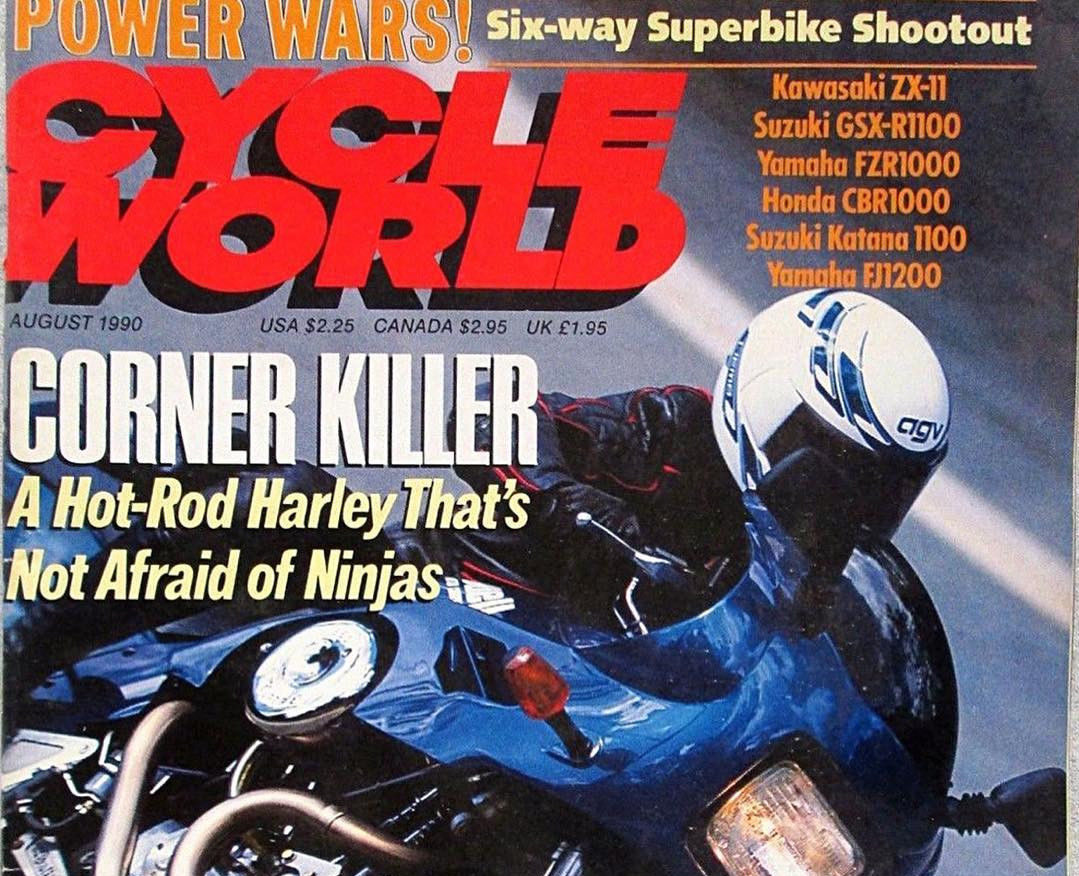 The cover of the August 1990 issue of Cycle World magazine.