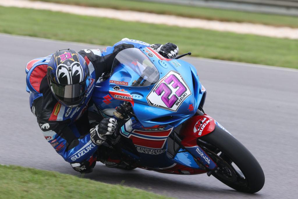 Lucas Silva (23). Photo by Brian J. Nelson, courtesy Suzuki Motor of America, Inc.