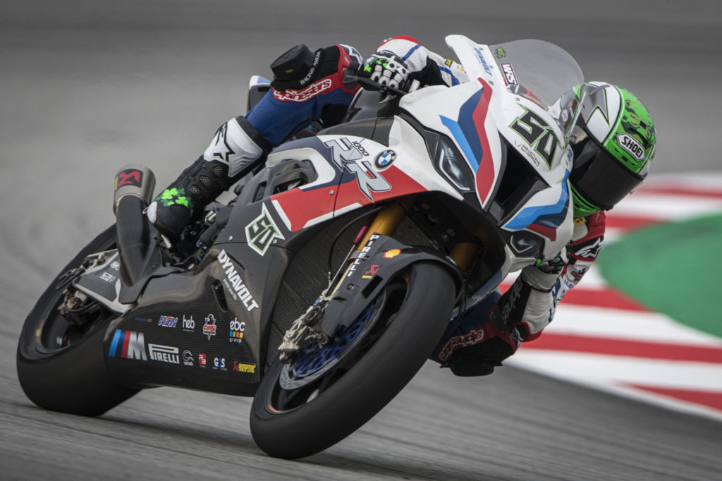Eugene Laverty (50). Photo courtesy BMW Motorrad Motorsports.