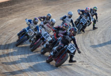 The American Flat Track series is racing at the Atlanta Short Track doubleheader this coming weekend in Woodstock, Georgia. Photo by Scott Hunter, courtesy AFT.