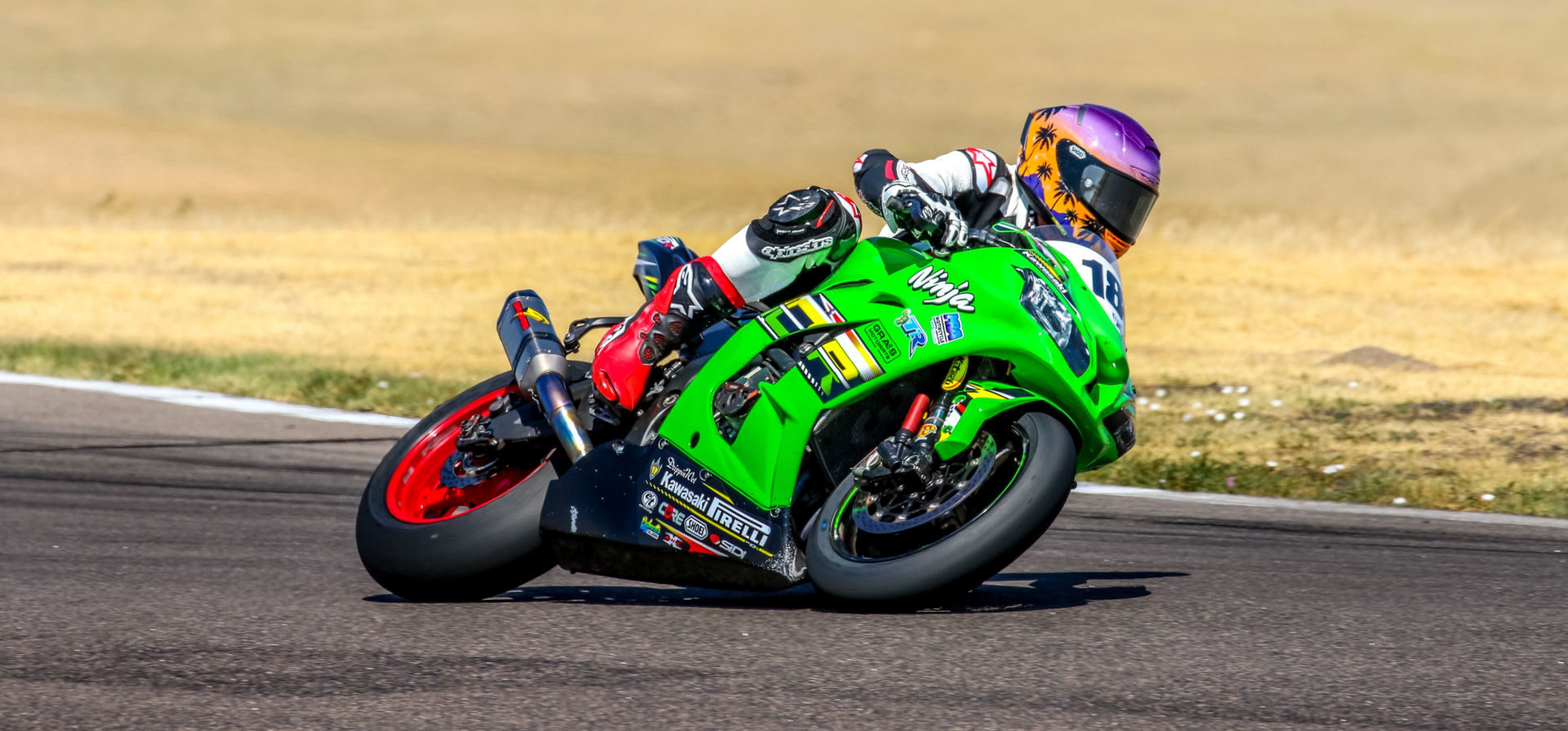 Andrew Lee (18) in action at High Plains Raceway. Photo by Brandon Wren, courtesy Pirelli.