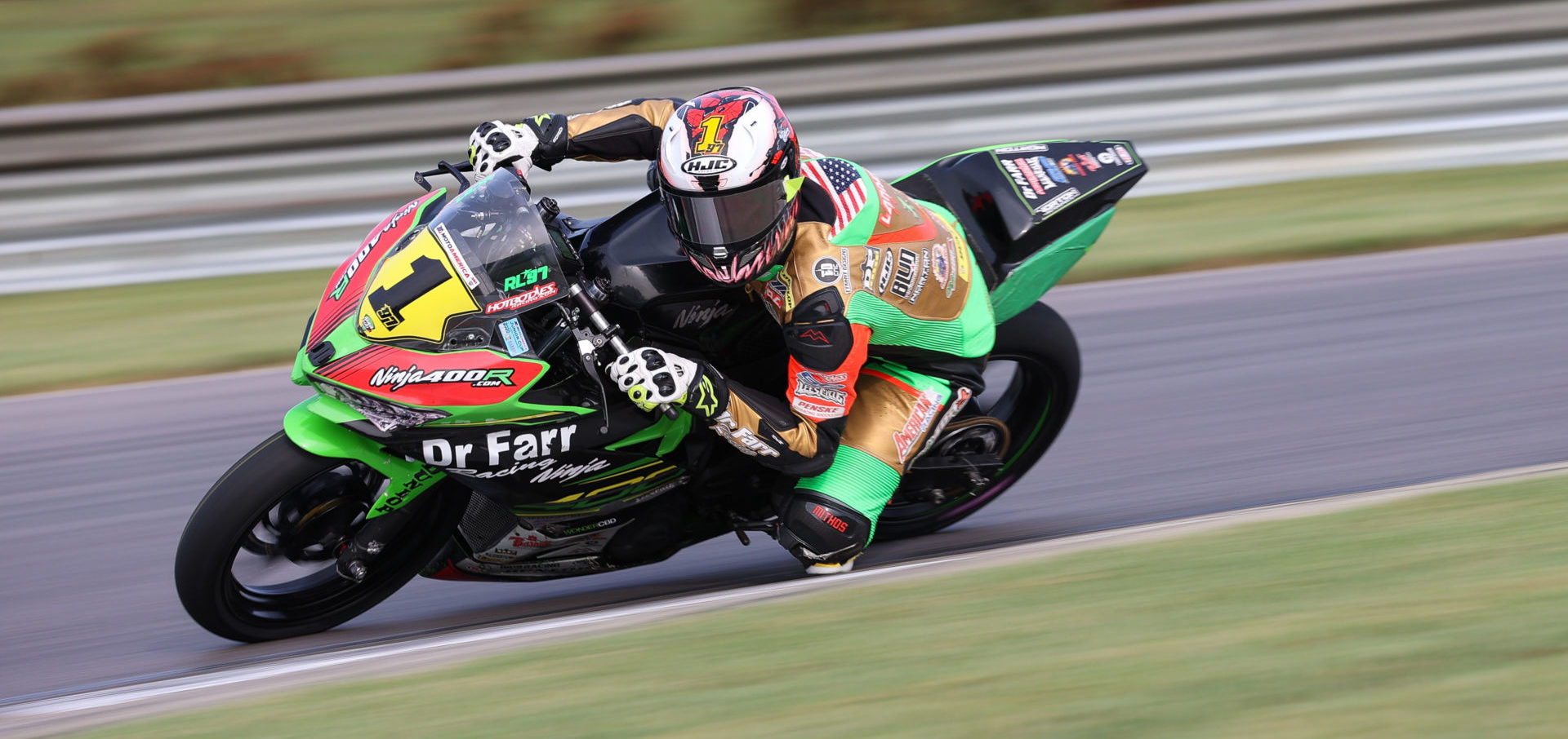 Rocco Landers (1) in action at Barber Motorsports Park. Photo by Brian J. Nelson.