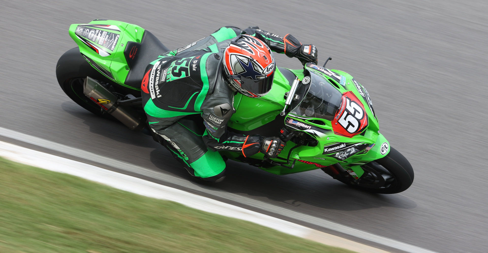 Michael Gilbert (55) at speed at Barber Motorsports Park. Photo by Brian J. Nelson.