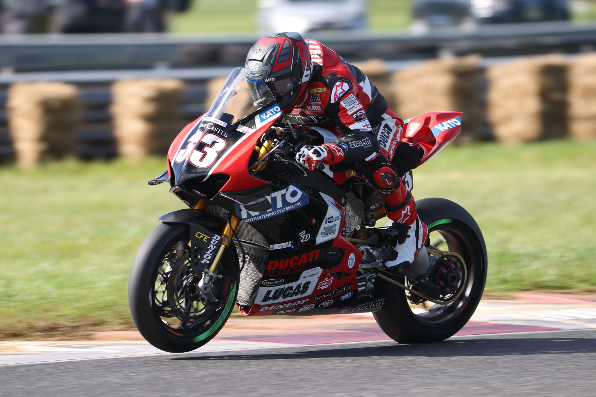 Kyle Wyman (33) in action at New Jersey Motorsports Park. Photo courtesy Ducati North America.
