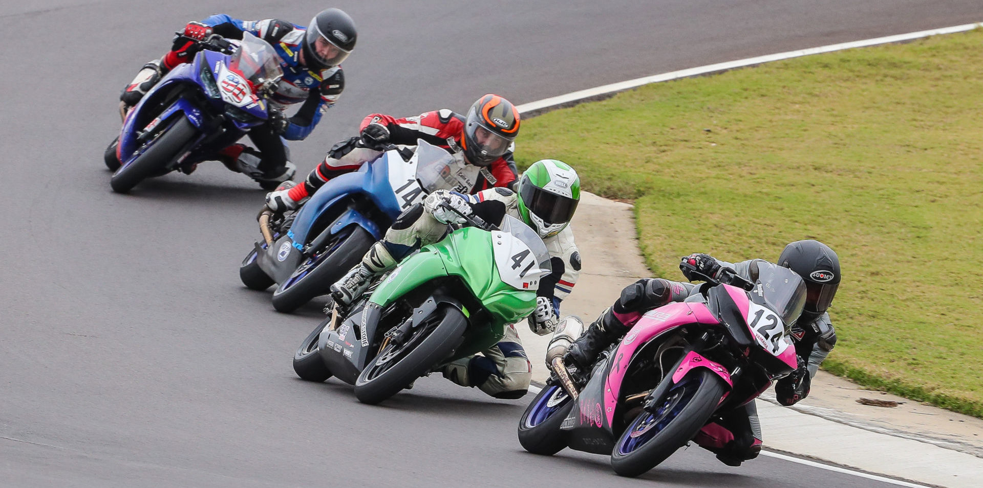 Racers in action at the 2019 AMA Road Race Grand Championship at Barber Motorsports Park. Photo by Brian J. Nelson, courtesy AMA.