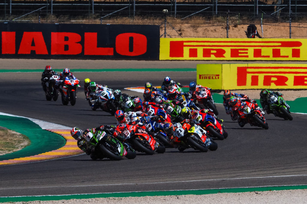 The start of Race One. Photo courtesy Dorna.