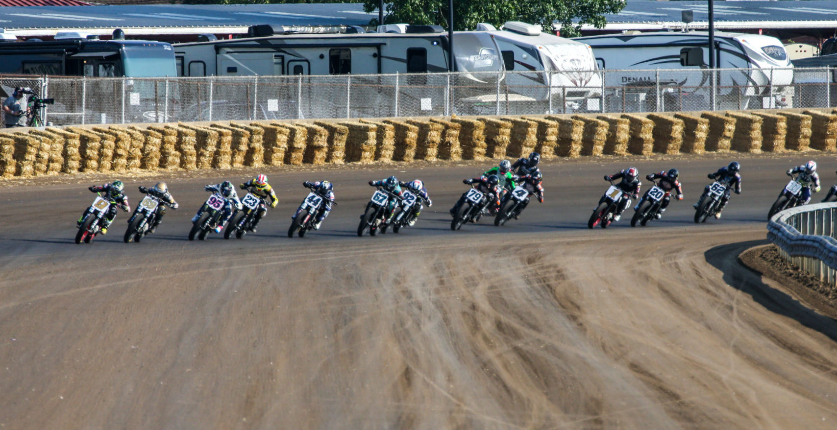 American Flat Track action from the Indy Mile. Photo by Scott Hunter, courtesy AFT.