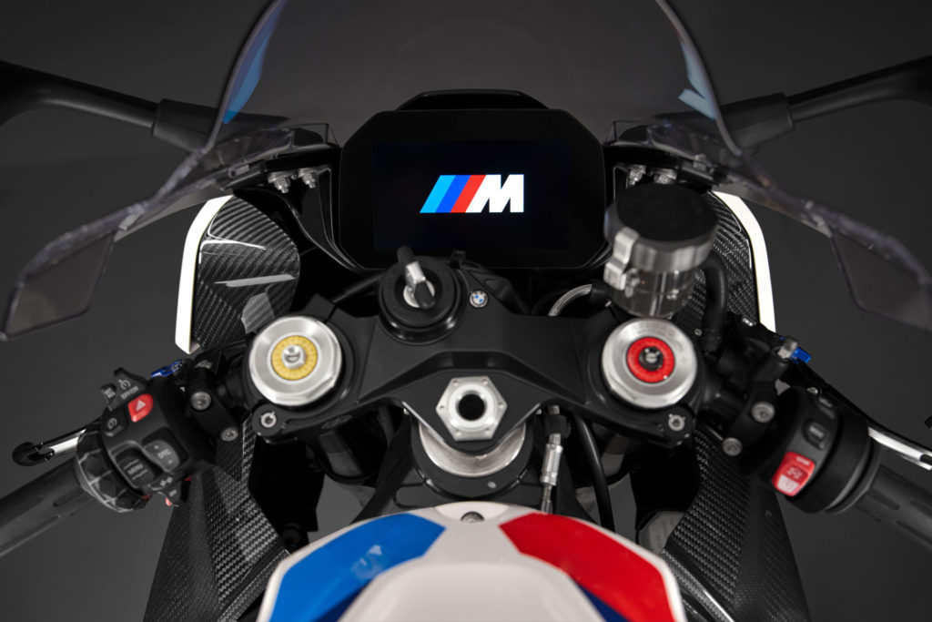 The cockpit of the BMW M 1000 RR. Photo courtesy BMW Motorrad.