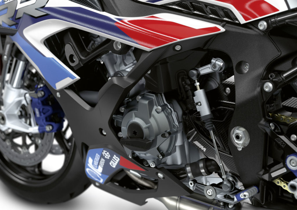 The engine of the new M 1000 RR is more power than the engine in the current S 1000 RR. Photo courtesy BMW Motorrad.