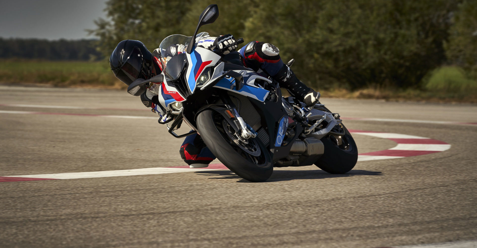BMW's new M 1000 RR in action. Photo courtesy BMW Motorrad.