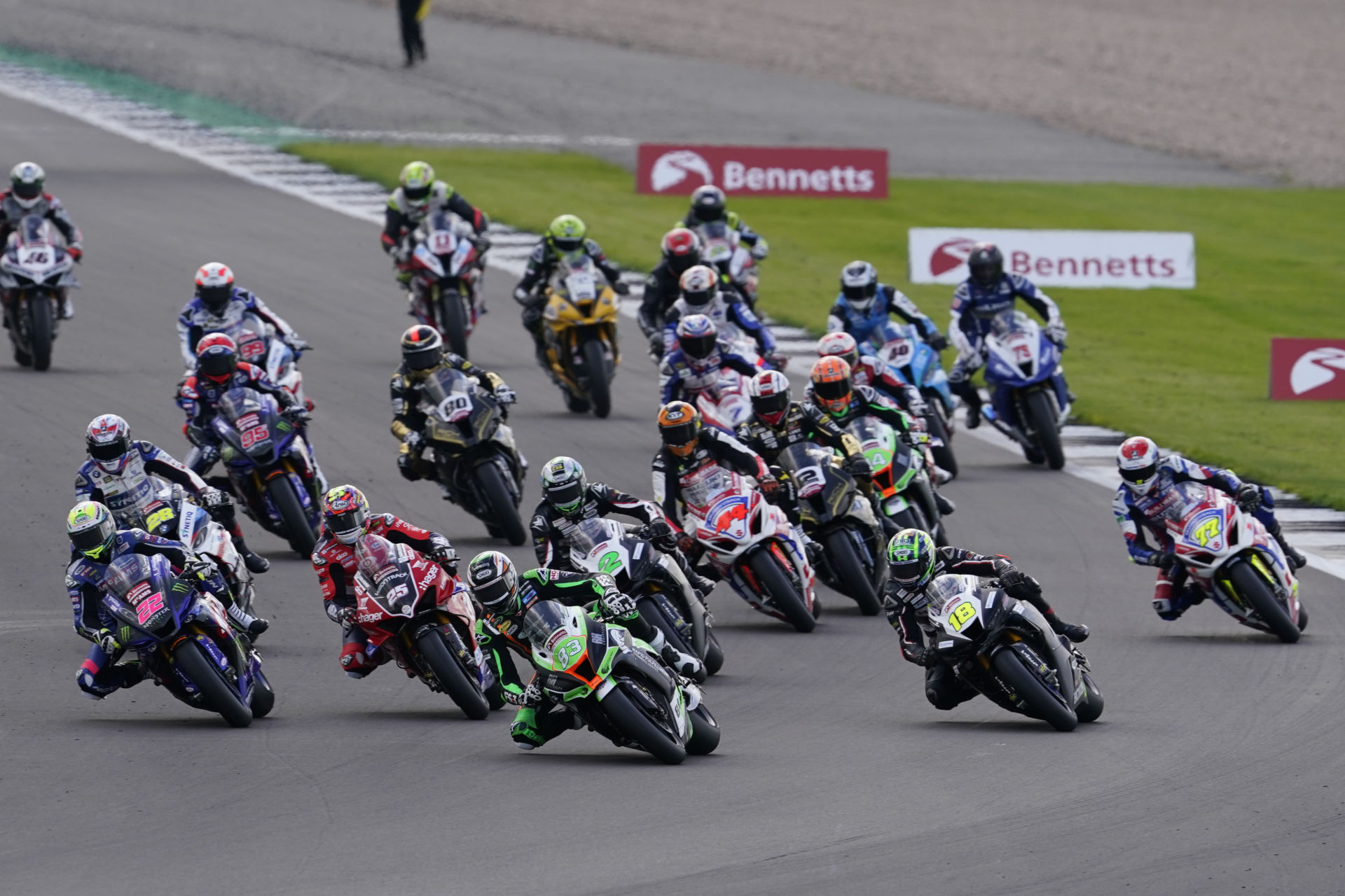 The start of Race One at Silverstone. Photo courtesy MSVR.