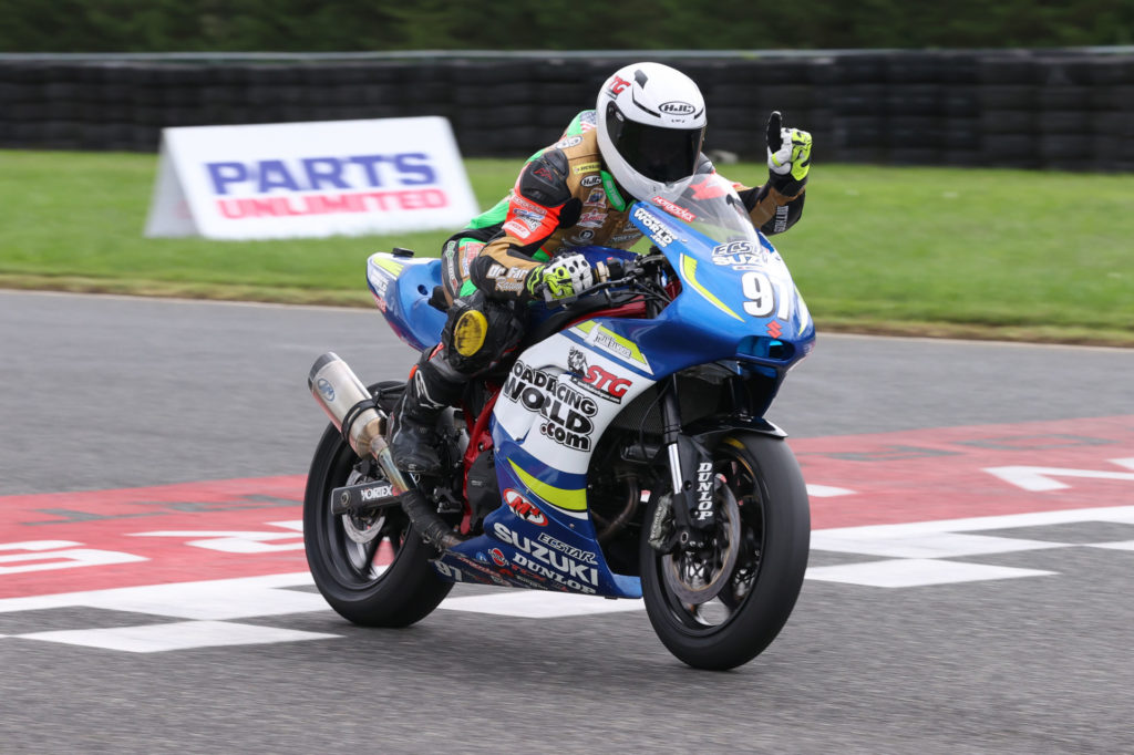 Rocco Landers (97) won both Twins Cup races in New Jersey. Photo by Brian J. Nelson, courtesy MotoAmerica.