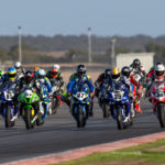 Action from an Australian Superbike race at The Bend in 2019. Photo by Andrew Gosling/TBG Sport, courtesy of Motorcycling Australia.