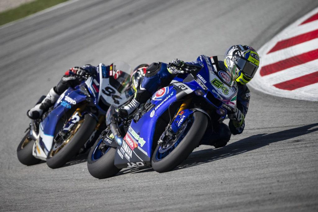 Federico Caricasulo (64) and Jonas Folger (94). Photo courtesy GRT Yamaha.