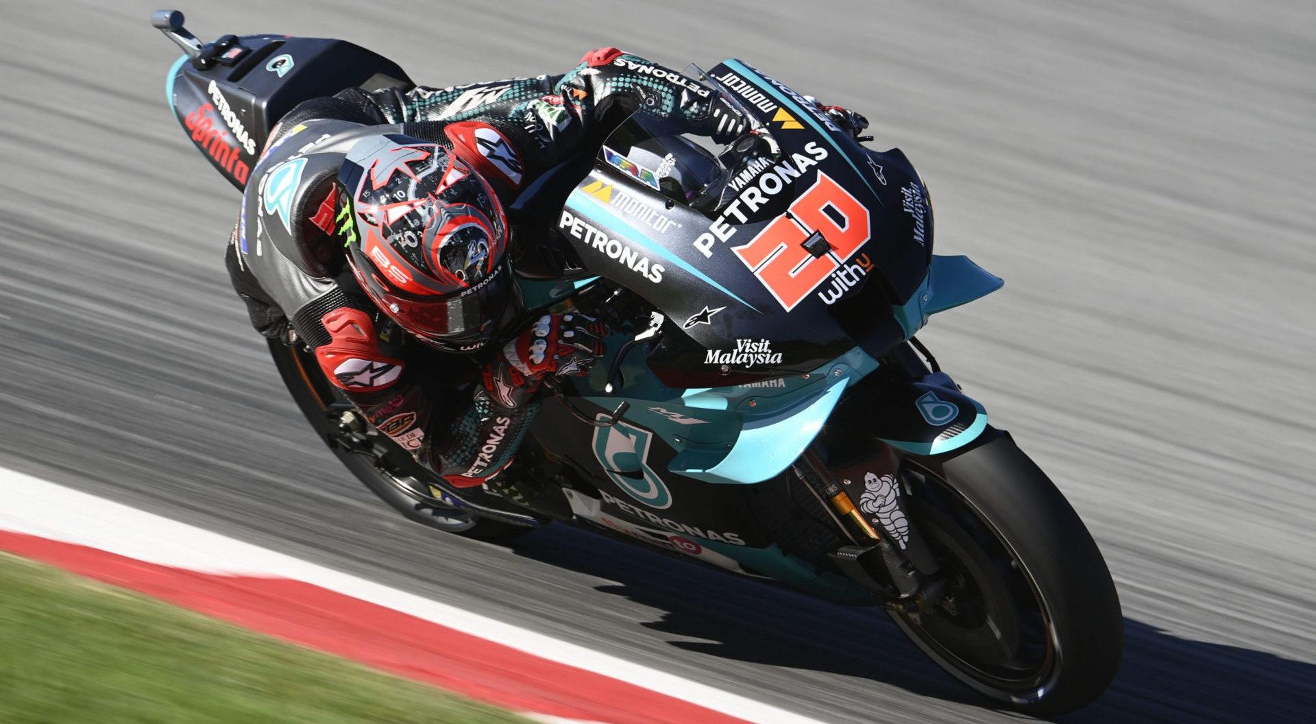 Fabio Quartararo (20). Photo courtesy Team PETRONAS Yamaha SRT.