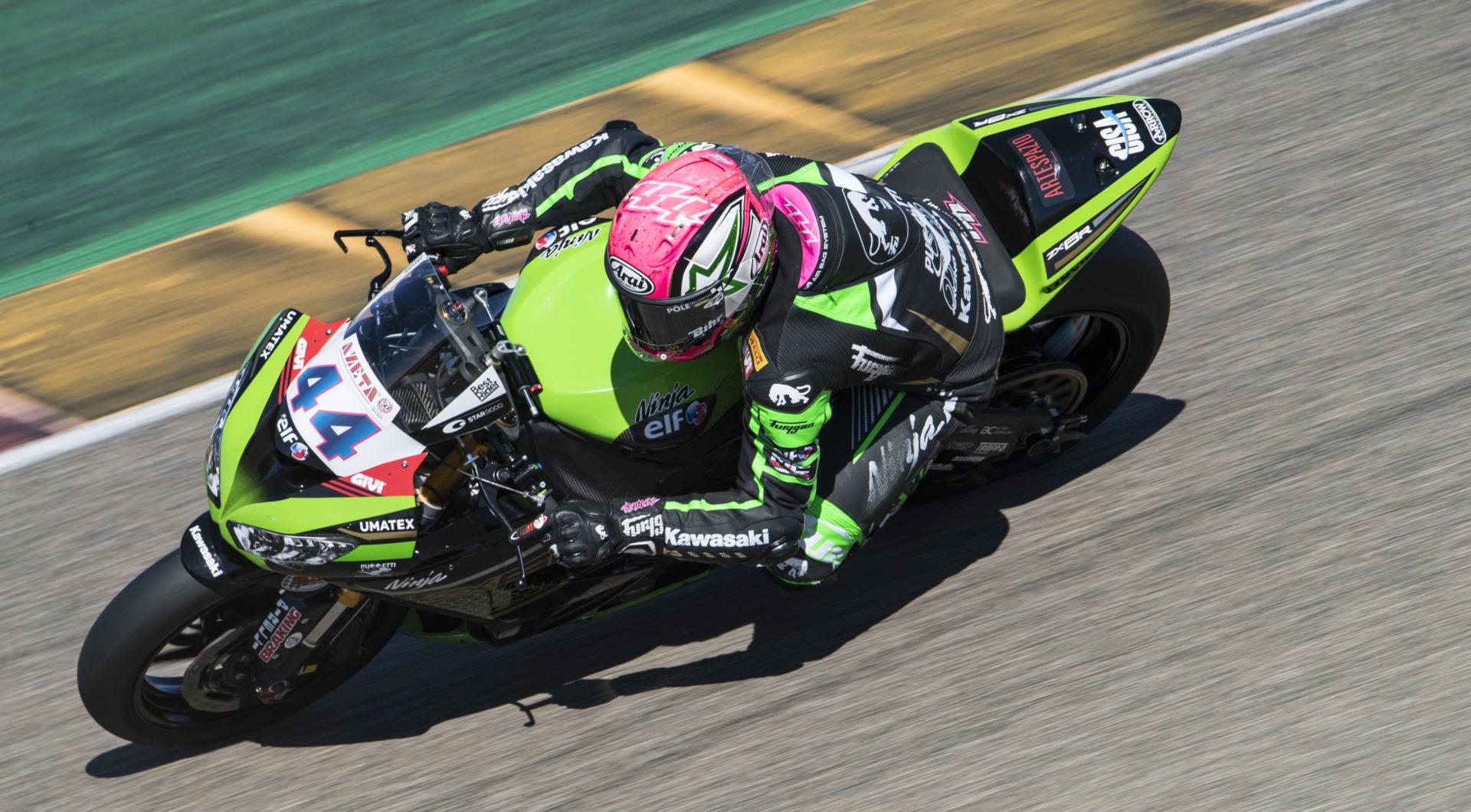 Lucas Mahias 44). Photo courtesy Kawasaki.
