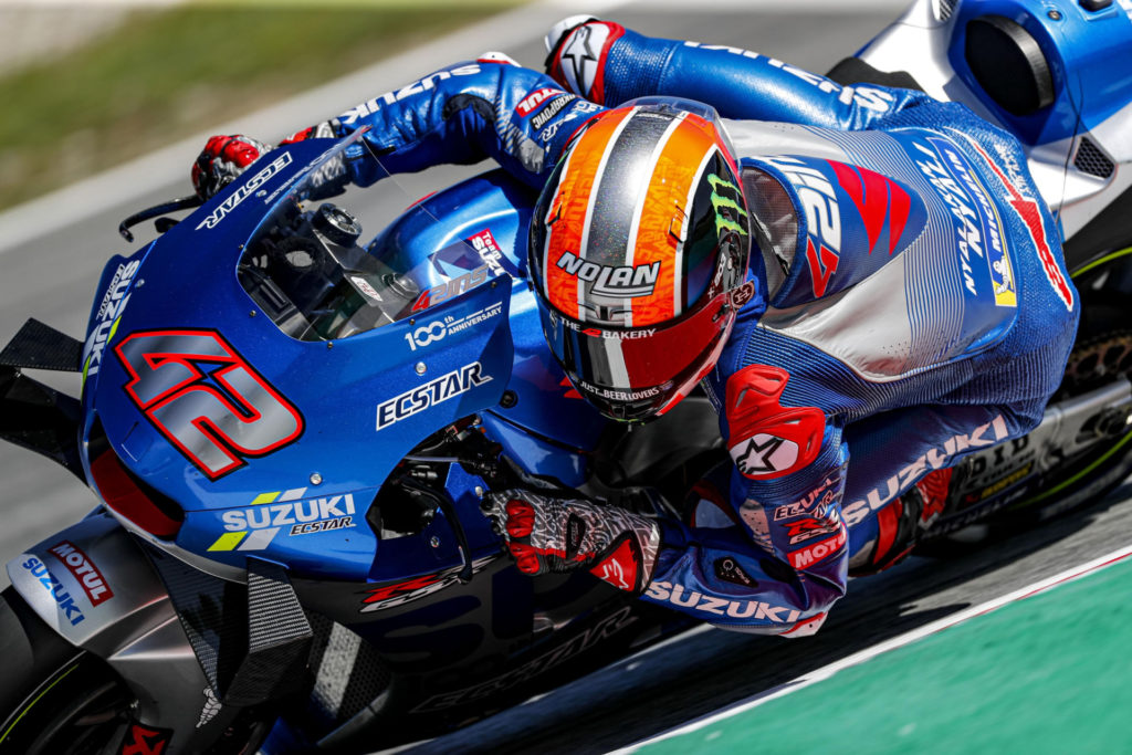 Alex Rins (42). Photo courtesy Team Suzuki ECSTAR.