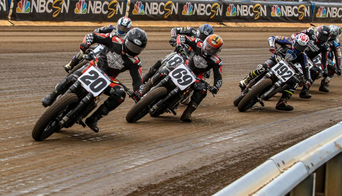 The 2020 American Flat Track season will conclude in front of spectators October 16-17 at the Short Track at Daytona, at Daytona International Speedway. Photo courtesy AFT.