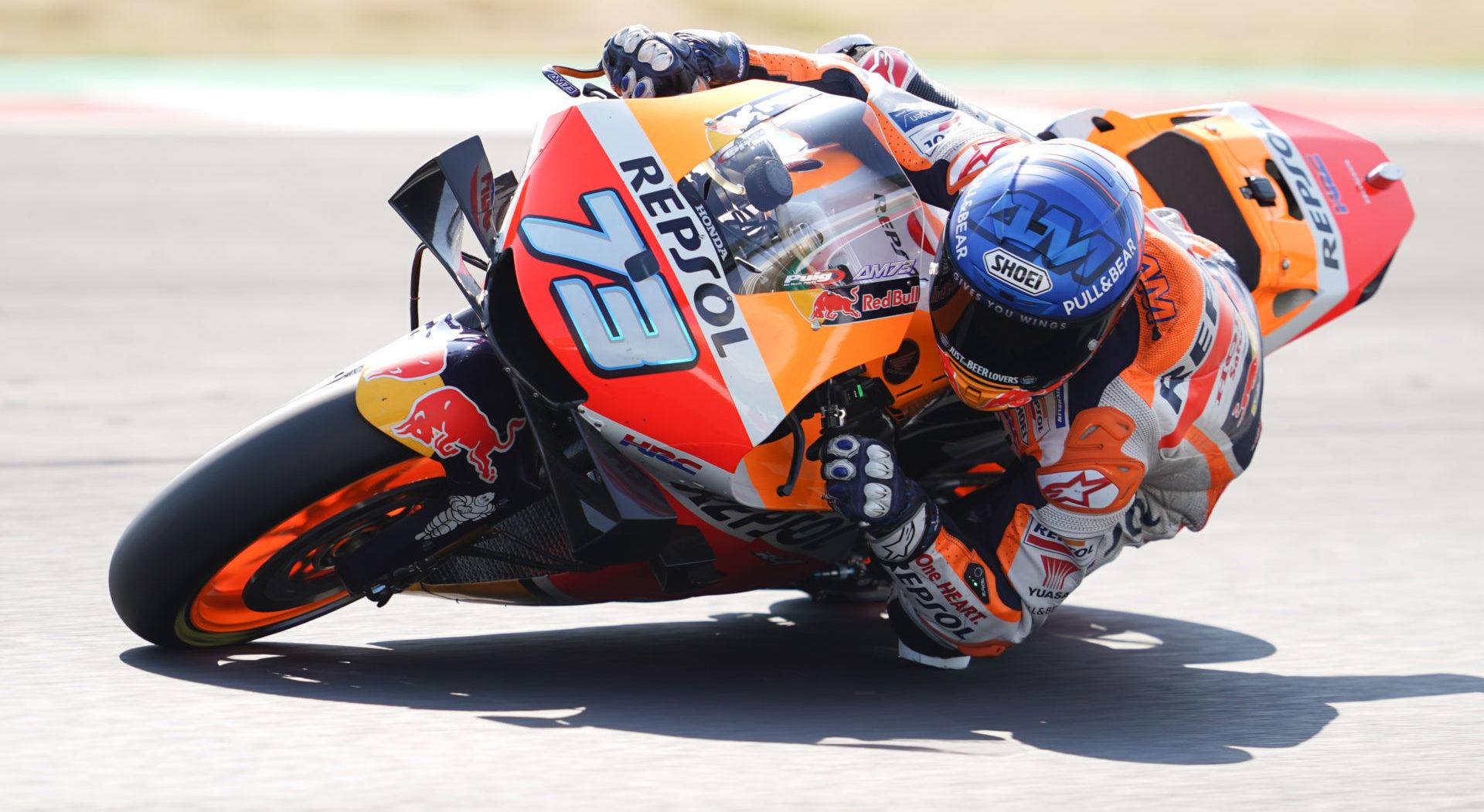 Alex Marquez (73). Photo courtesy Repsol Honda.