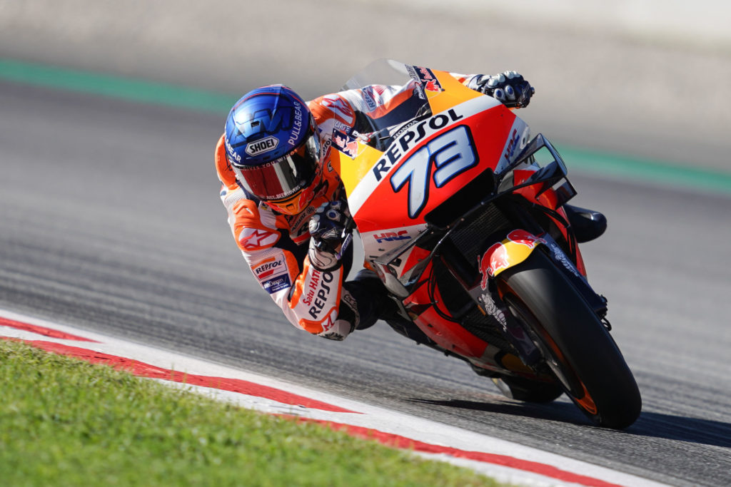 Alex Marquez (73). Photo courtesy Repsol Honda.