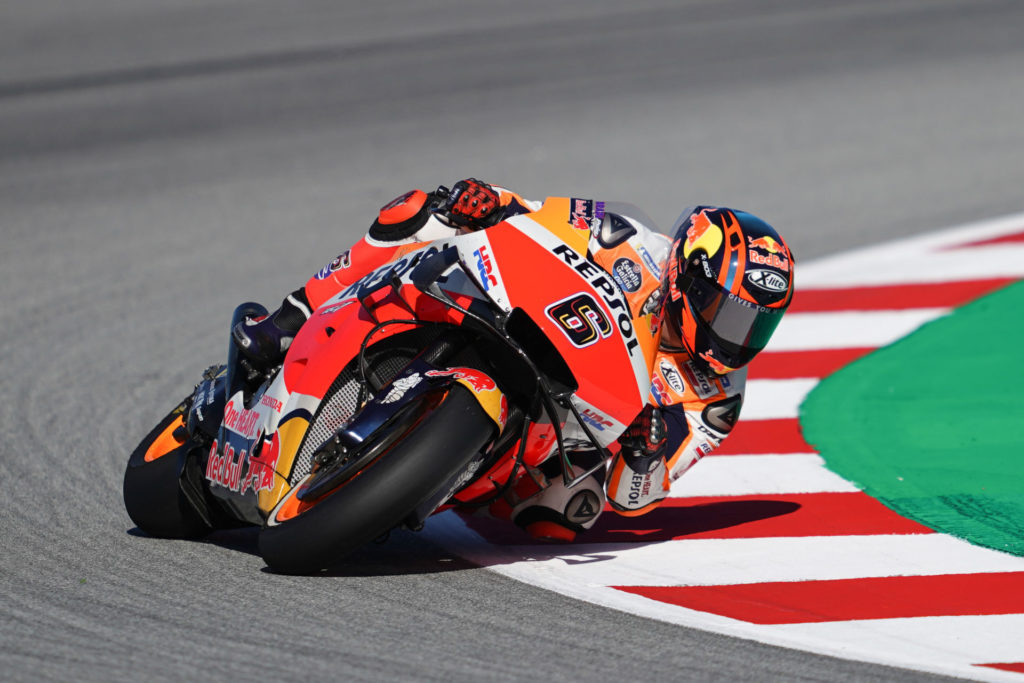 Stefan Bradl (6). Photo courtesy Repsol Honda.