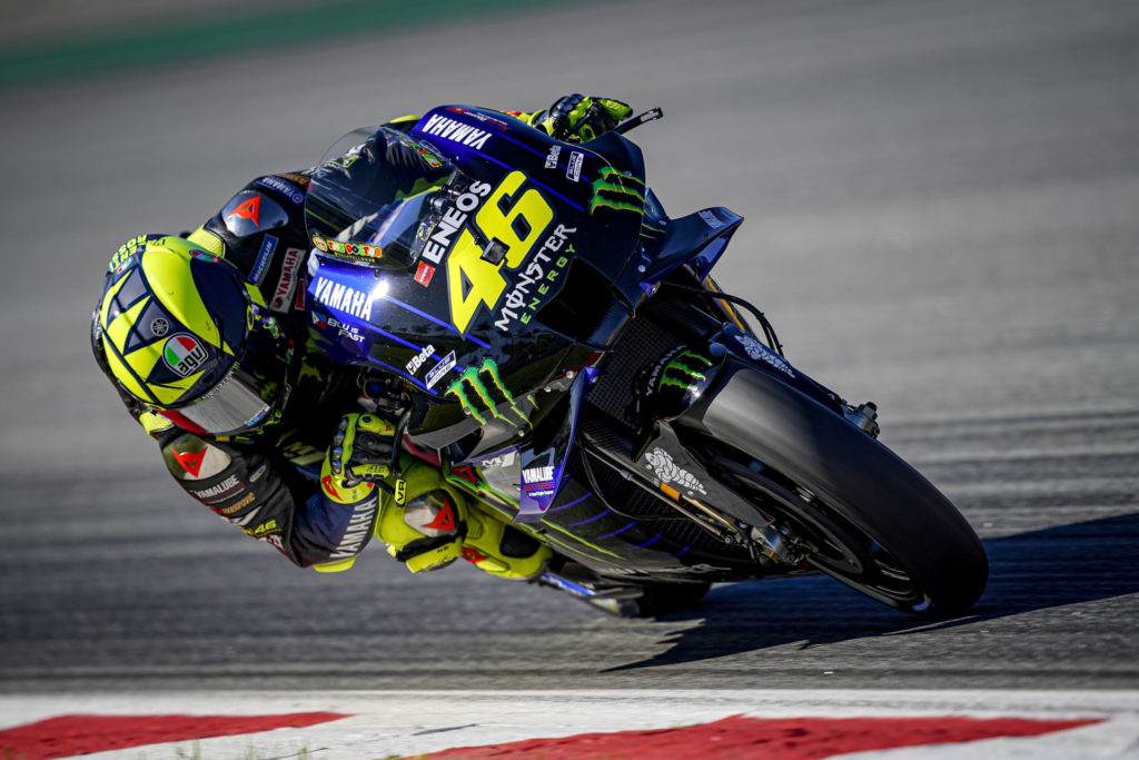 Valentino Rossi (46). Photo courtesy Monster Energy Yamaha.