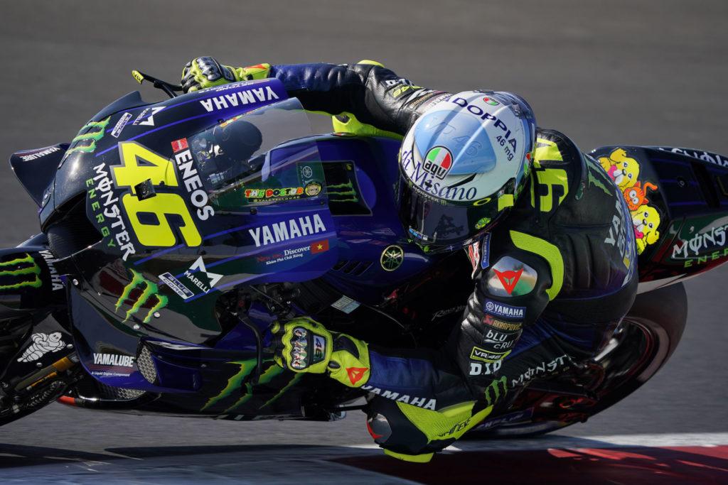 Valentino Rossi (46). Photo courtesy Monster Energy Yamaha.