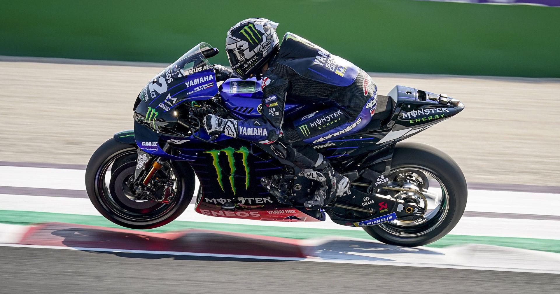 Maverick Vinales (12). Photo courtesy Monster Energy Yamaha.