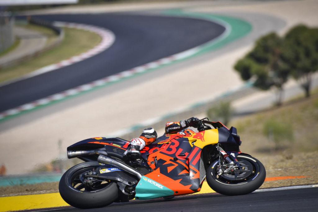 Dani Pedrosa on his KTM. Photo courtesy Dorna.