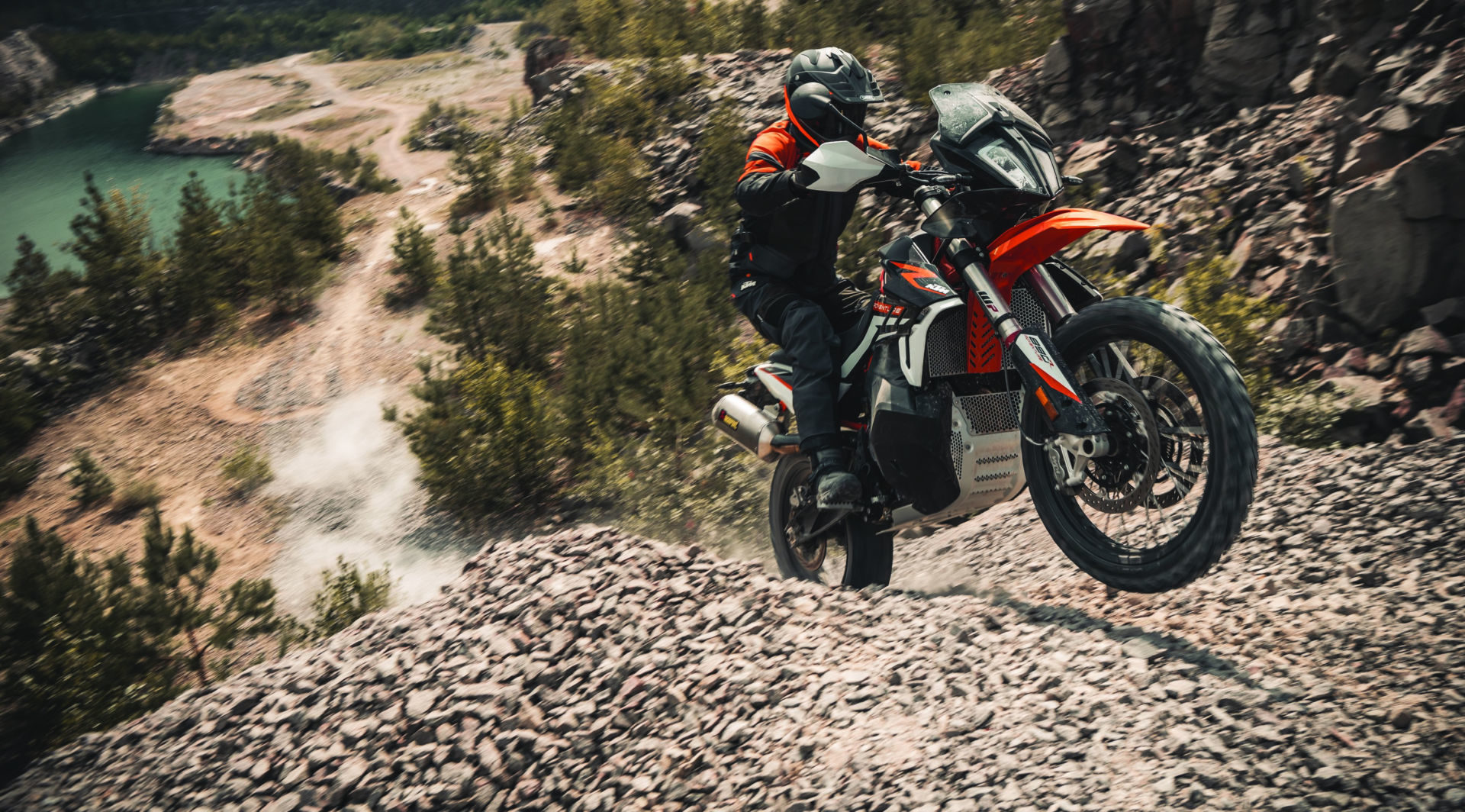 A 2021 KTM 890 Adventure R in action. Photo by Sebas Romero, courtesy KTM.