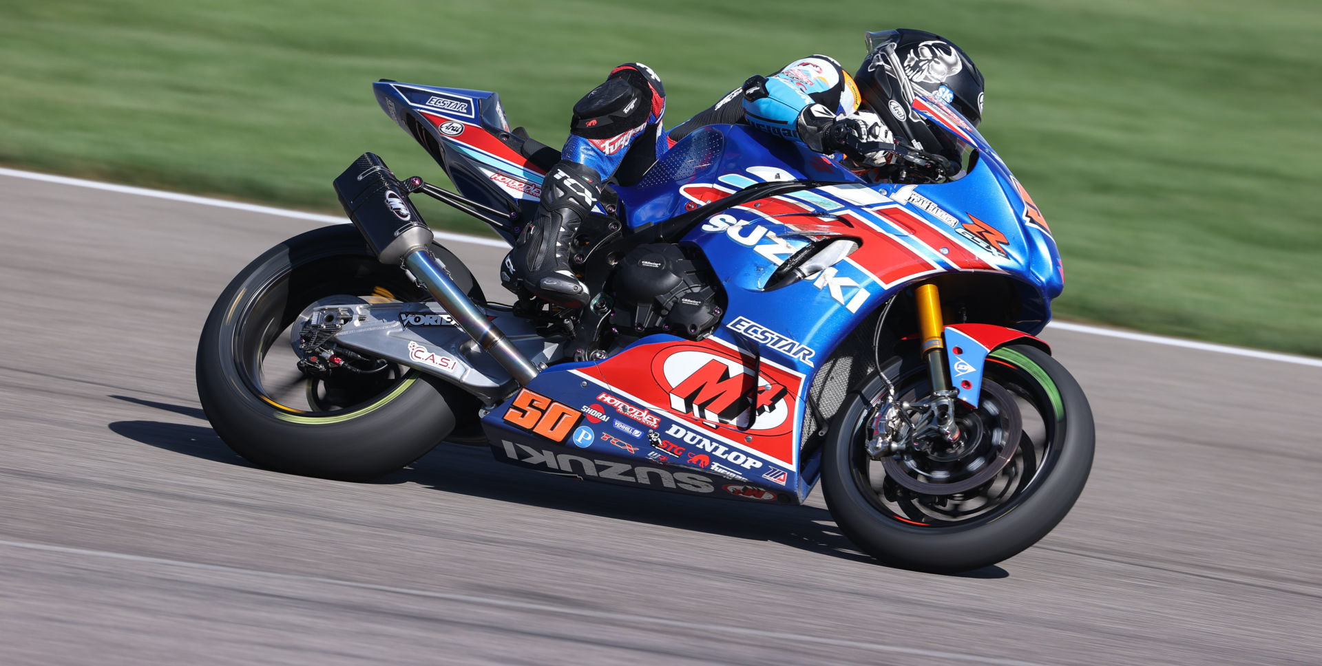 Bobby Fong arrives at WeatherTech Raceway Laguna Seca with the hot hand after winning two of the three HONOS Superbike races at Indianapolis Motor Speedway. Photo by Brian J. Nelson, courtesy MotoAmerica.
