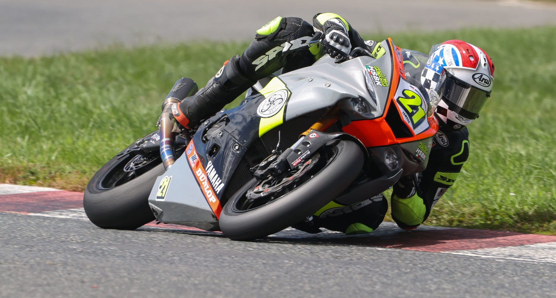 Brandon Paasch (21) as seen on his Celtic HSBK Racing Yamaha YZF-R6 at New Jersey Motorsports Park. Photo by Brian J. Nelson.