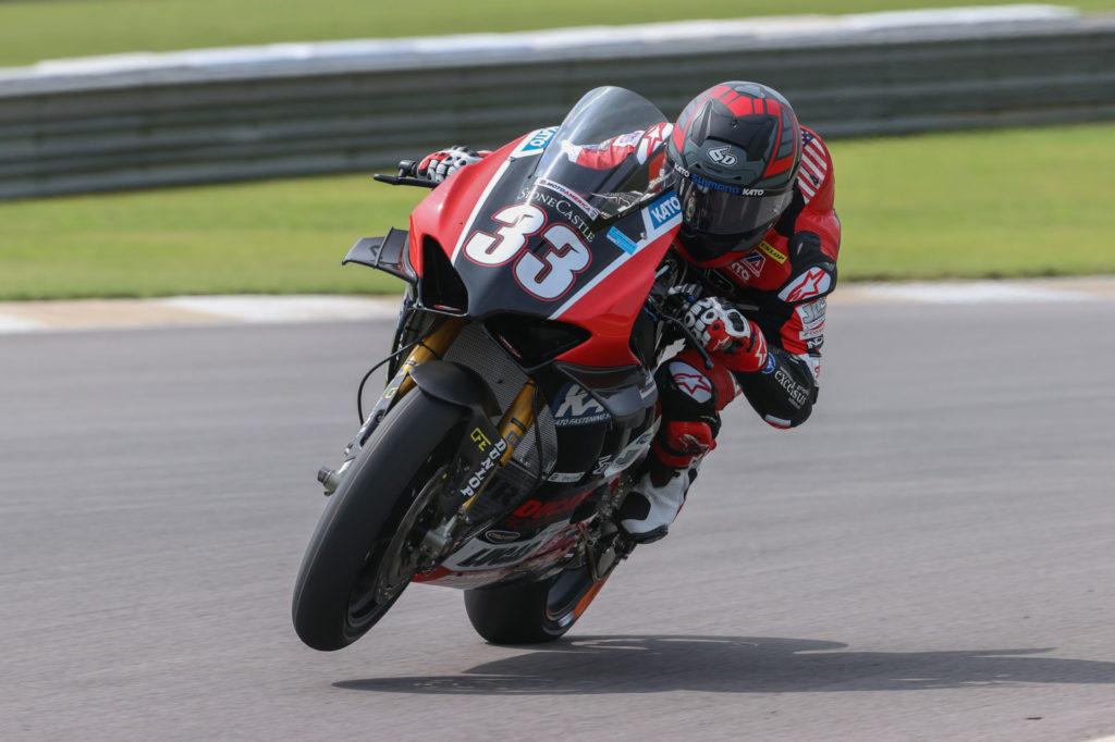 Kyle Wyman (33). Photo by Brian J. Nelson, courtesy Ducati North America.