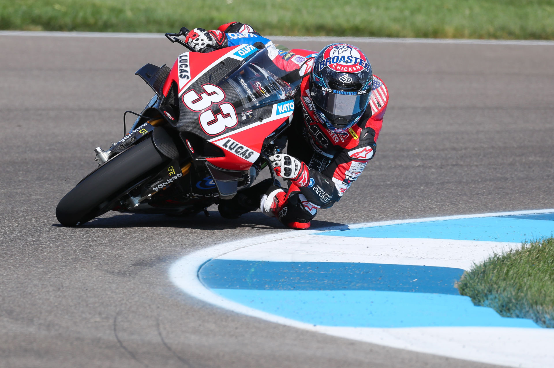 Kyle Wyman (33). Photo courtesy KWR Ducati.