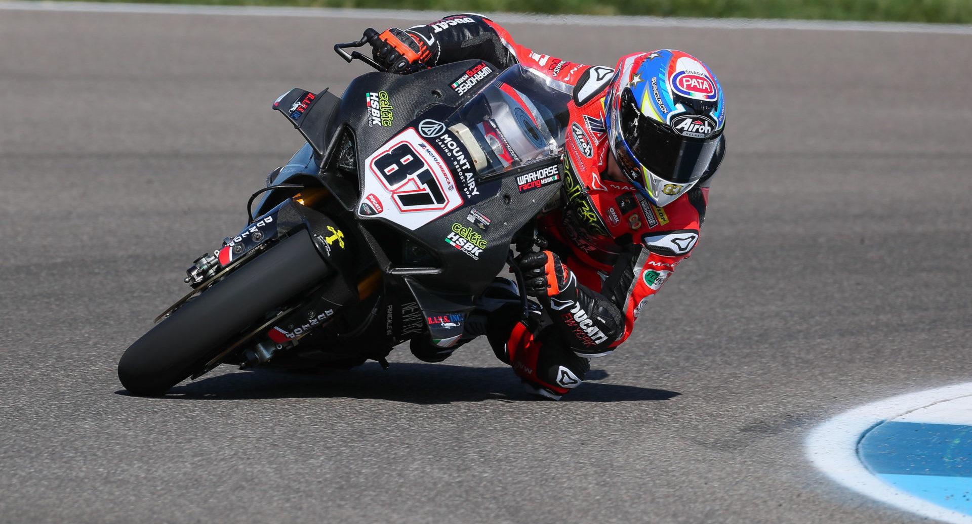 Lorenzo Zanetti (87) at Indianapolis Motor Speedway. Photo by Brian J. Nelson.