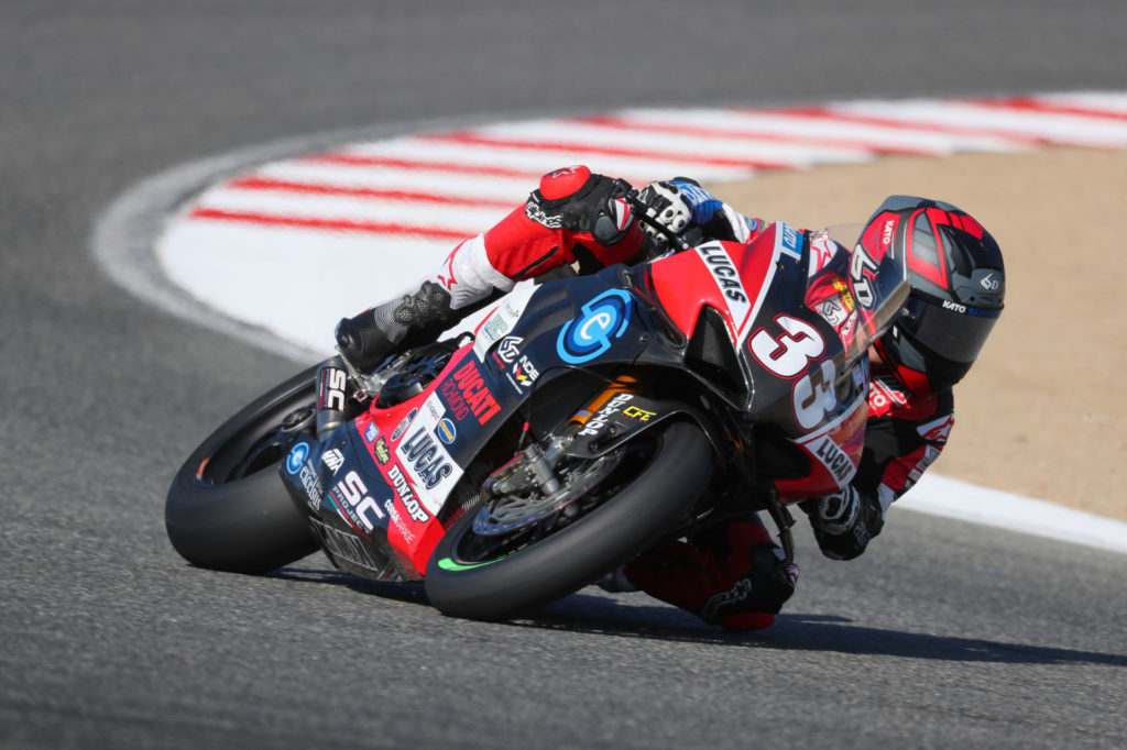 Kyle Wyman (33). Photo courtesy Ducati North America.