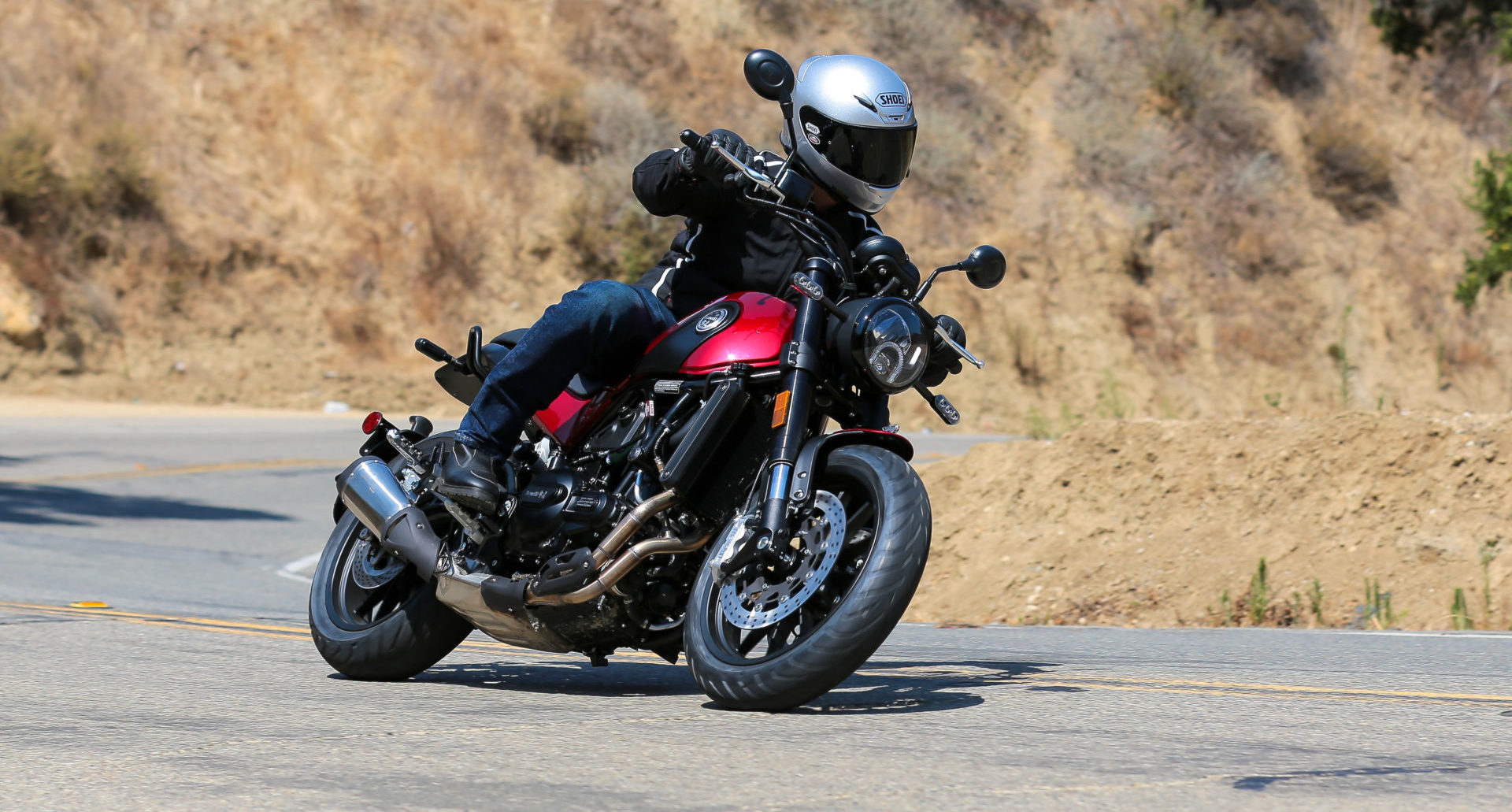 A Benelli Leoncino at speed. Photo courtesy Benelli Motorcycles USA/SSR Motorsports.