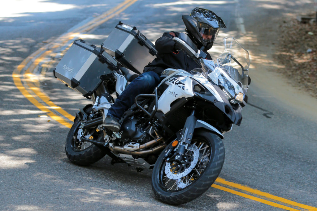 A Benelli TRK502X at speed. Photo courtesy SSR Motorsports/Benelli Motorcycles USA.
