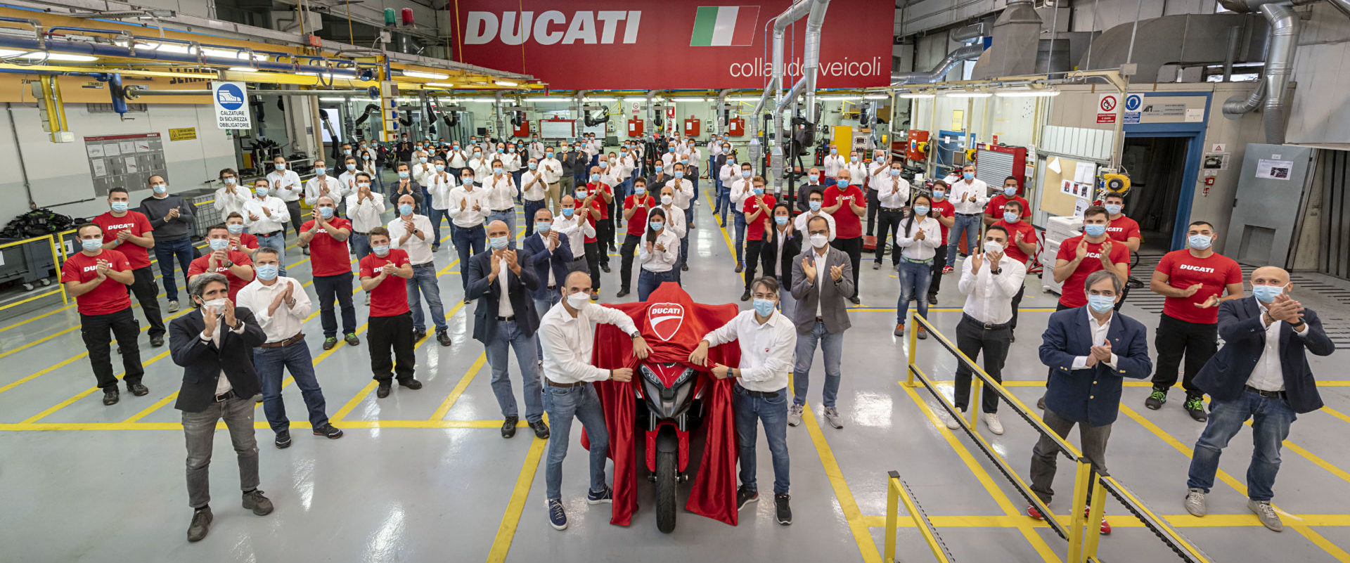 Ahead of its official unveiling, Ducati is announcing its new Multistrada V4 will feature front and rear radar systems to enhance rider safety. Photo courtesy Ducati.