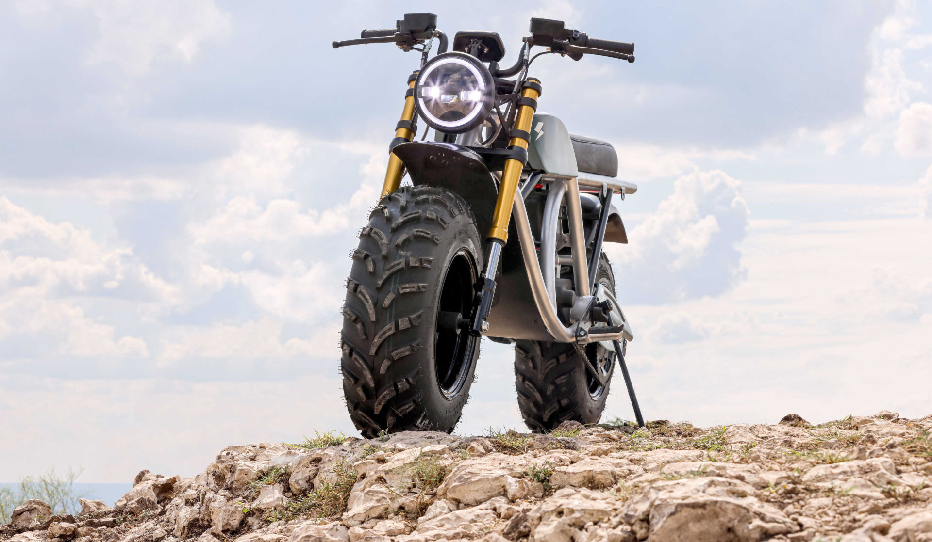 The Volcon Grunt, a new electric off-road motorcycle. Photo courtesy Volcon.