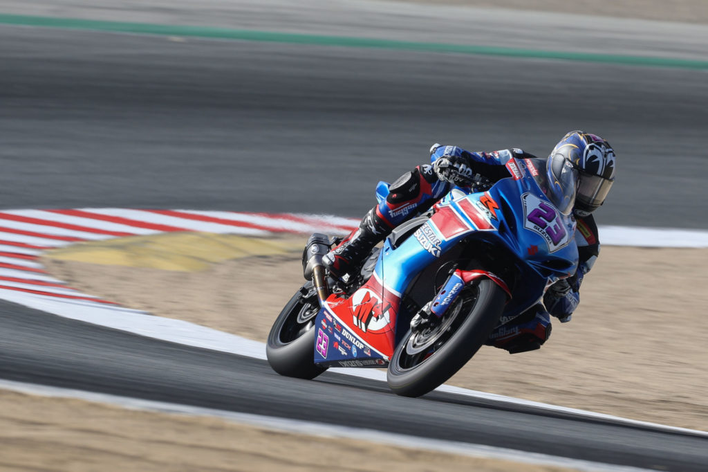 Lucas Silva (23) used his season-long consistency to earn fifth place in the Supersport Championship. Photo by Brian J. Nelson, courtesy Suzuki Motor of America, Inc.